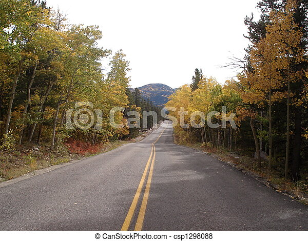 Country Road in Fall - csp1298088