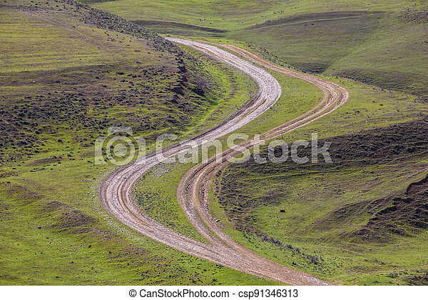 Country road in the mountains - csp91346313