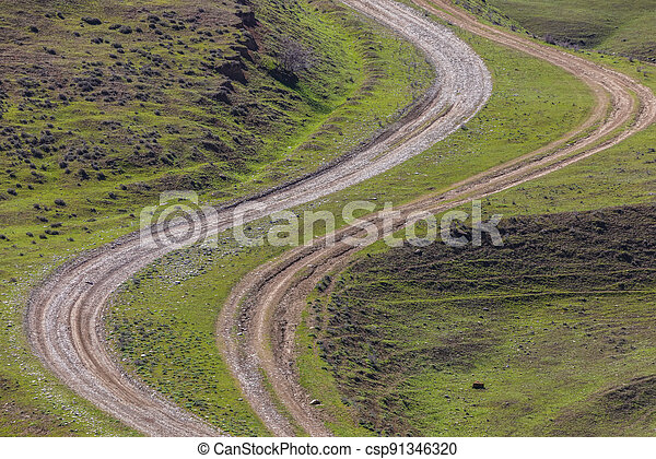 Country road in the mountains - csp91346320
