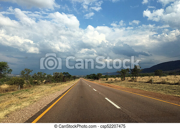 Country road in the Waterberg - csp52207475