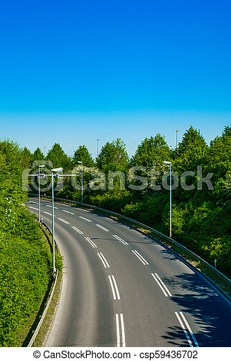 country road with trees beside. Asphalt road - csp59436702