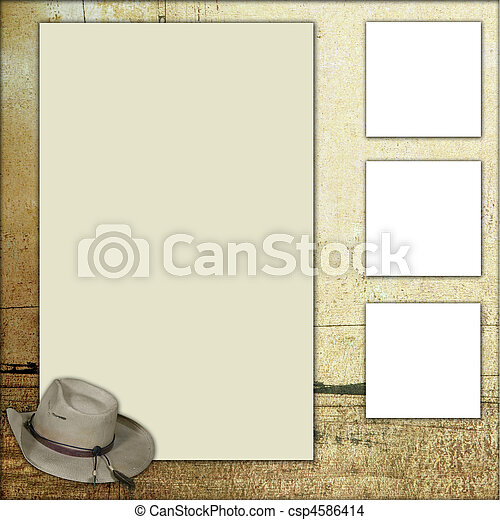 Country Theme Scrapbook Frame Template - csp4586414