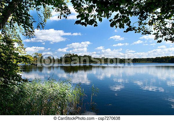 countryside lake  - csp7270638