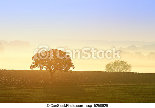countryside landscape - csp15258929