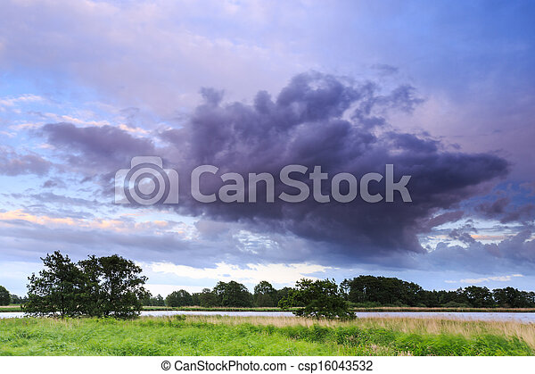 Countryside landscape with a river running through - csp16043532
