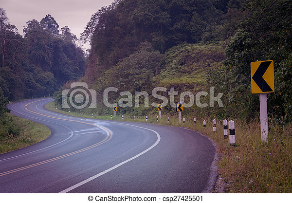 Countryside road in vintage effect - csp27425501