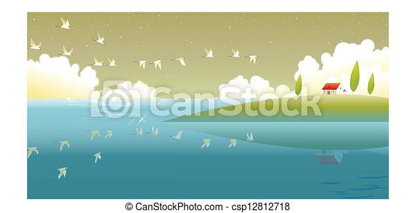 Countryside scene - csp12812718
