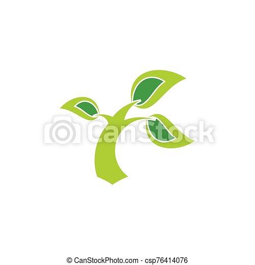 coup, simple, arbre, logo, vent - csp76414076