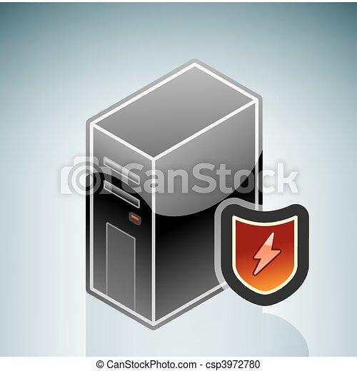 coupe-feu, network/internet, protectio - csp3972780
