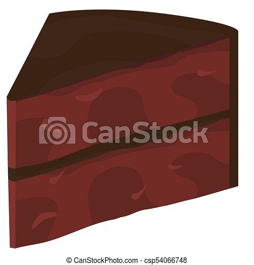 couper, gâteau chocolat - csp54066748
