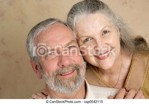 couple, aimer, mûrir - csp0542115