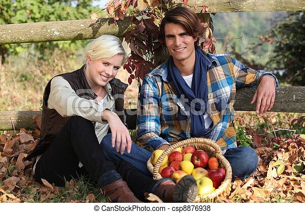 couple, aimer, nature - csp8876938