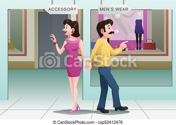 couple arguing direction - csp52412476