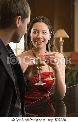 Couple at bar. - csp1507326