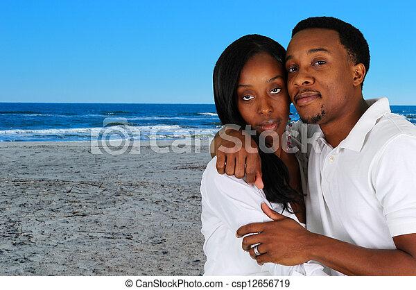 Couple At Beach - csp12656719