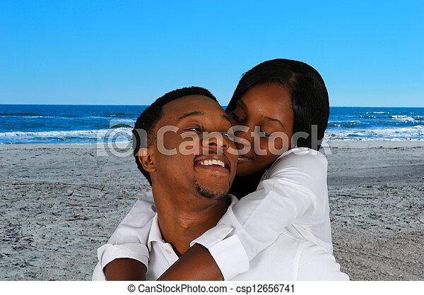 Couple At Beach - csp12656741
