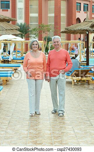 couple at nature - csp27430093