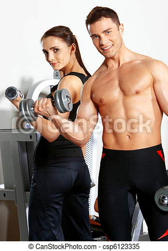 Couple at the gym - csp6123335