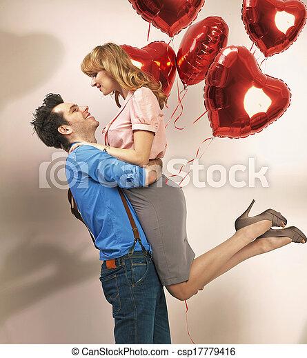 couple, autre, séduisant, apprécier, chaque - csp17779416