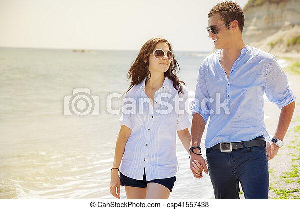 couple beach sea love - csp41557438