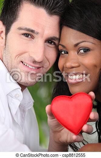Couple celebrating Valentine's Day - csp8812555
