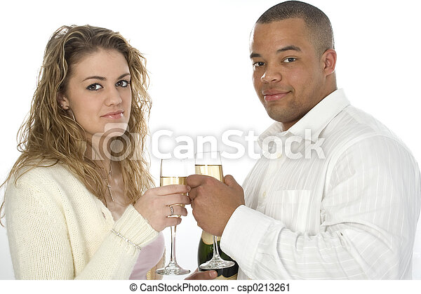 Couple Champagne - csp0213261