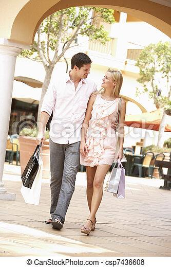 Couple Enjoying Shopping Trip Together - csp7436608