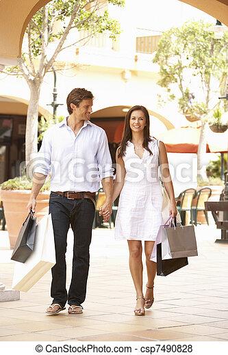 Couple Enjoying Shopping Trip Together - csp7490828