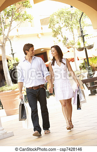 Couple Enjoying Shopping Trip Together - csp7428146