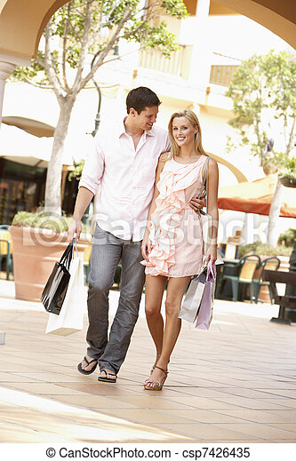 Couple Enjoying Shopping Trip Together - csp7426435