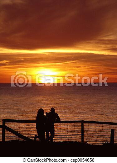 Couple enjoying Sunset - csp0054656