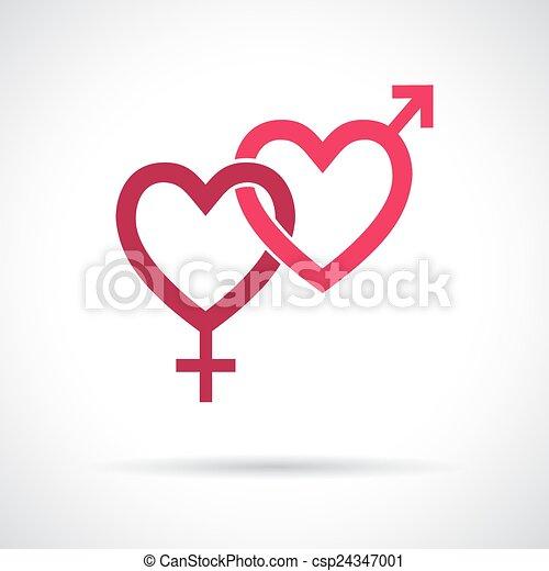 Couple gender icon.  - csp24347001