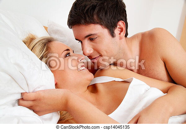 couple has fun in bed - csp14045135