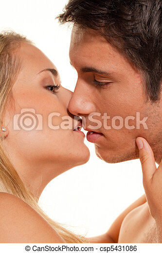Couple has fun. Love, eroticism and tenderness in - csp5431086