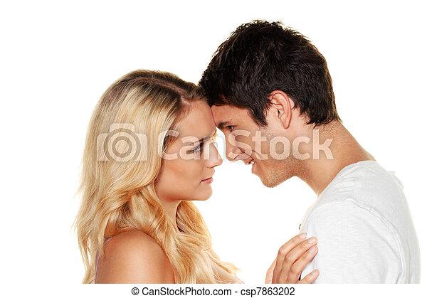 couple has fun. - csp7863202