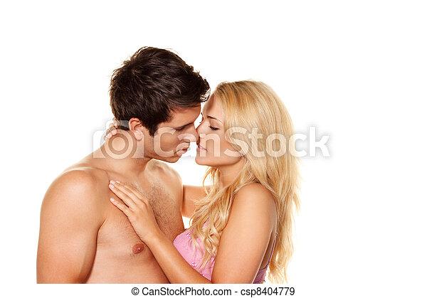 couple has fun. - csp8404779
