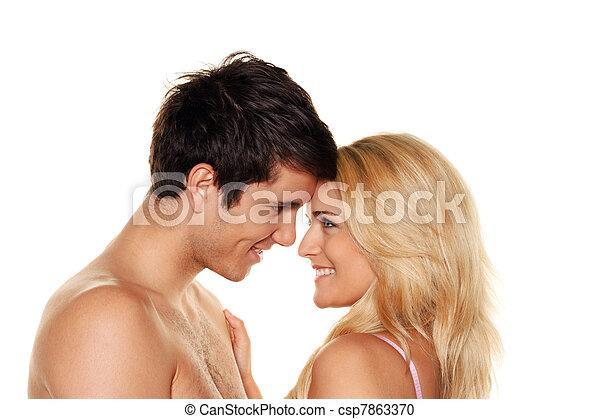 couple has fun. - csp7863370