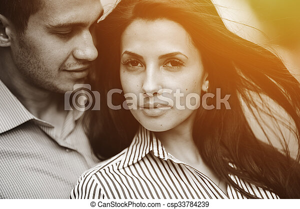 Couple have fun in the city - csp33784239