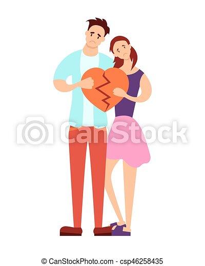 Couple holding a broken heart - csp46258435