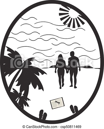 Beach clipart black and white, Beach black and white Transparent FREE for  download on WebStockReview 2020