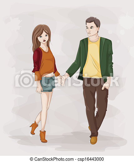 Couple Holding Hands - csp16443000