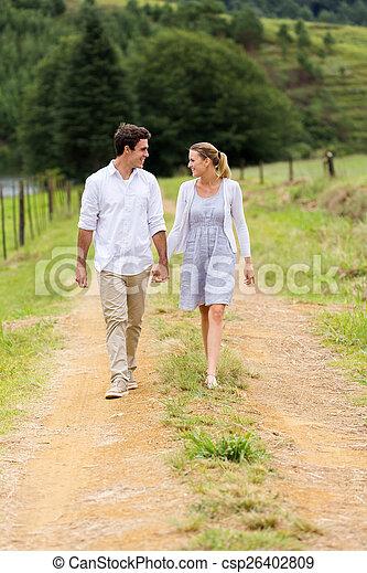 Holding Hands Walking
