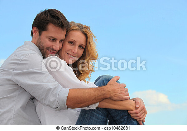 couple hugging - csp10482681