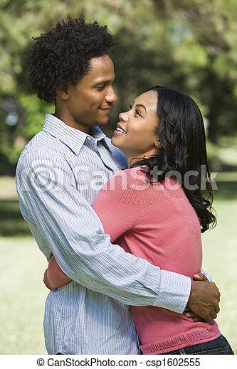 Couple hugging. - csp1602555