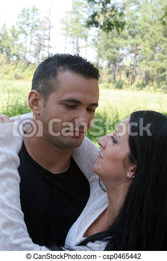 Couple hugging - csp0465442