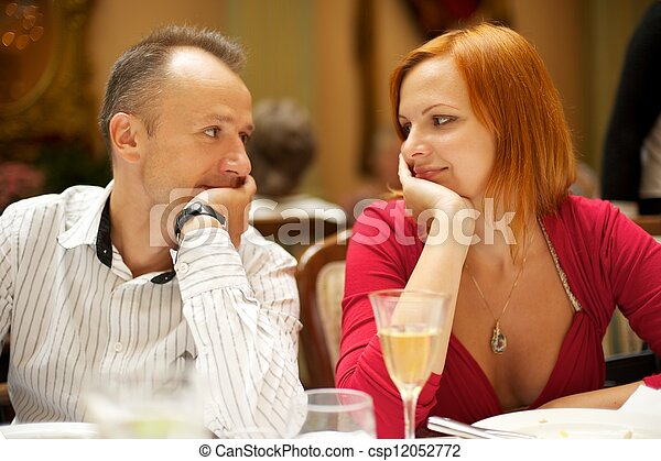 Couple in a restaurant - csp12052772