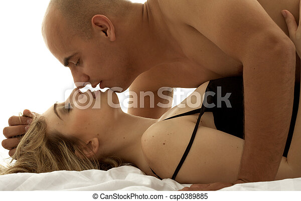 couple in bed - csp0389885