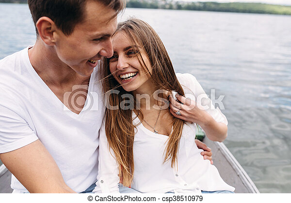 Couple in boat - csp38510979