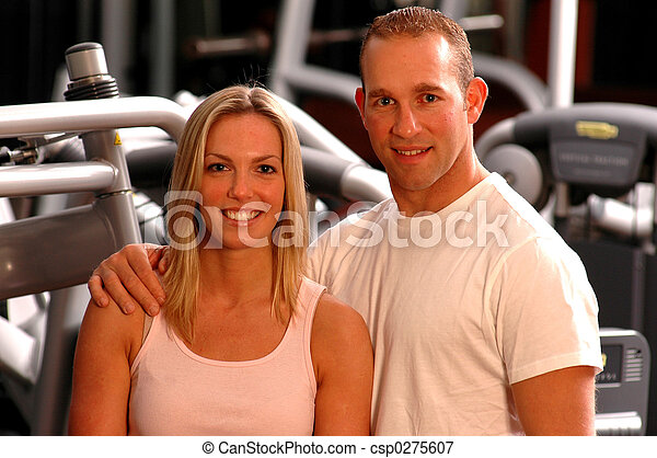couple in gym - csp0275607