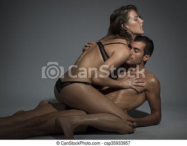 Couples having sex in lingerie
